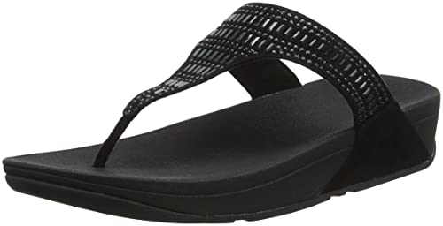 Strobe Luxe Toe-Thong Sandals, Sandali Punta Aperta Donna, Blu (Midnight Navy 399), 36 EU FitFlop