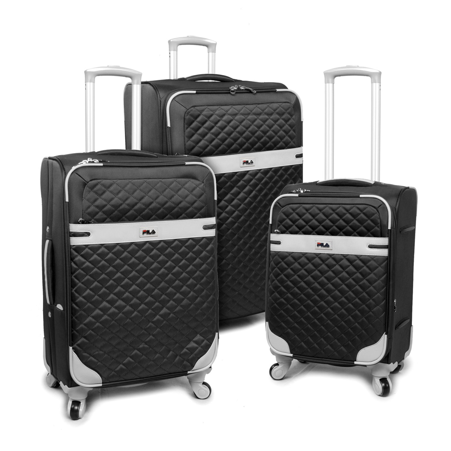 Luggage Gabriella 3 Piece Set Expandable Suitcase with Spinner Wheels