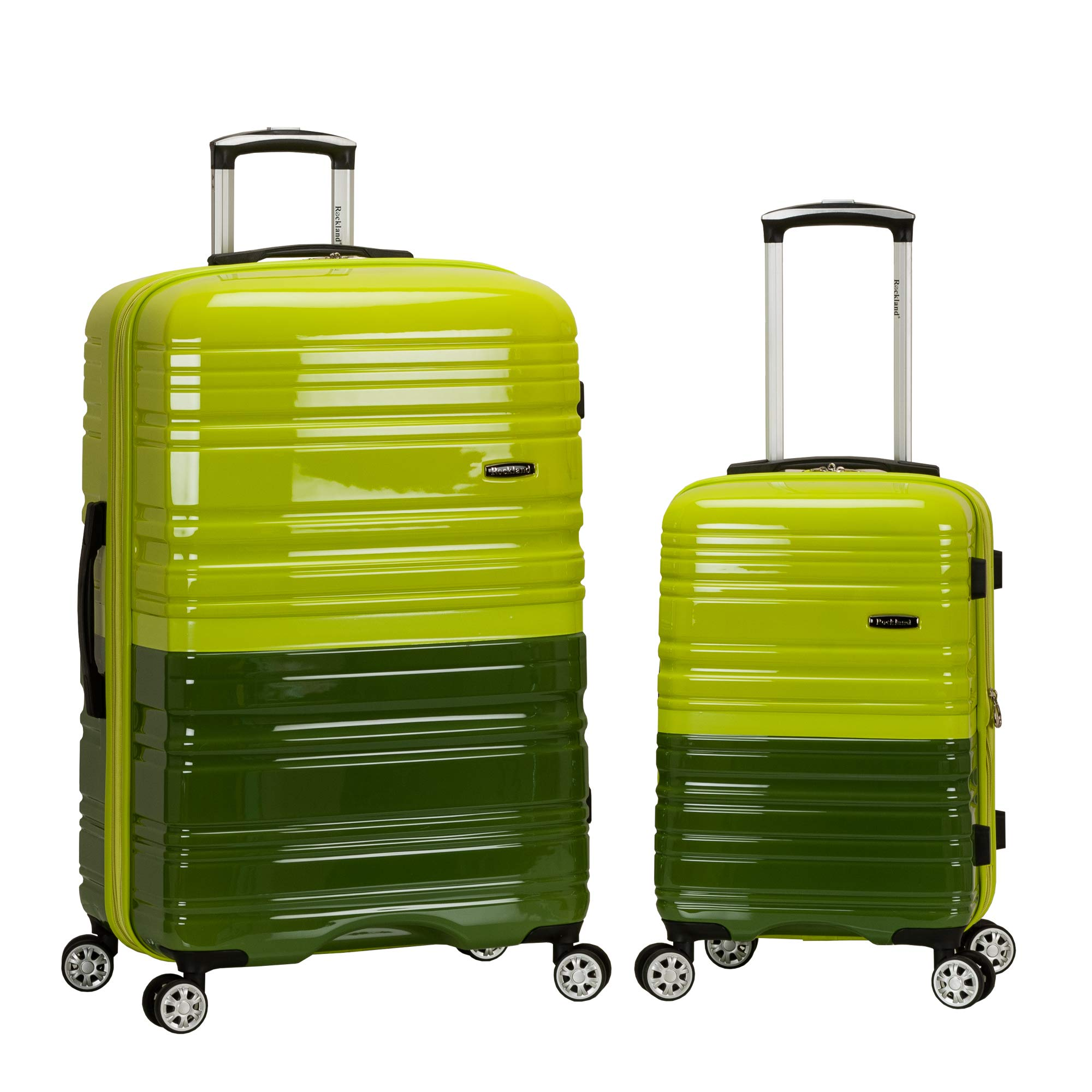 Rockland 20'', 28'' 2 Pc Expandable Polycarbonate Spinner Set, 2Tonegreen