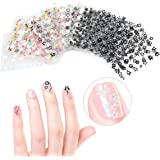 Tinksky 50 fogli di colori misti 3D Design autoadesivi Tip Nail Art adesivi decalcomanie unghie decorazioni consigli (modello colore casuale)