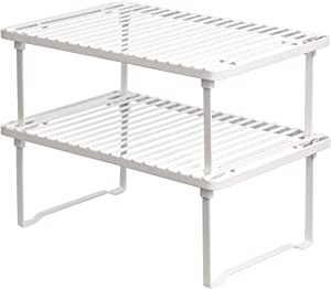 AmazonBasics Stackable Kitchen Storage Shelves