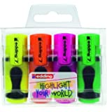 edding Textmarker edding 7 mini highlighter, 1-3 mm, sortiertes Set