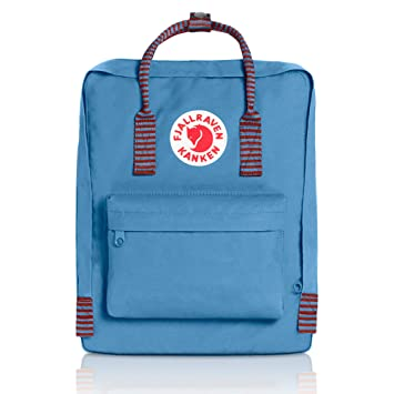 afb4af5cac34 Amazon.com | Fjallraven - Kanken Classic Backpack for Everyday, Air  Blue-Striped | Casual Daypacks
