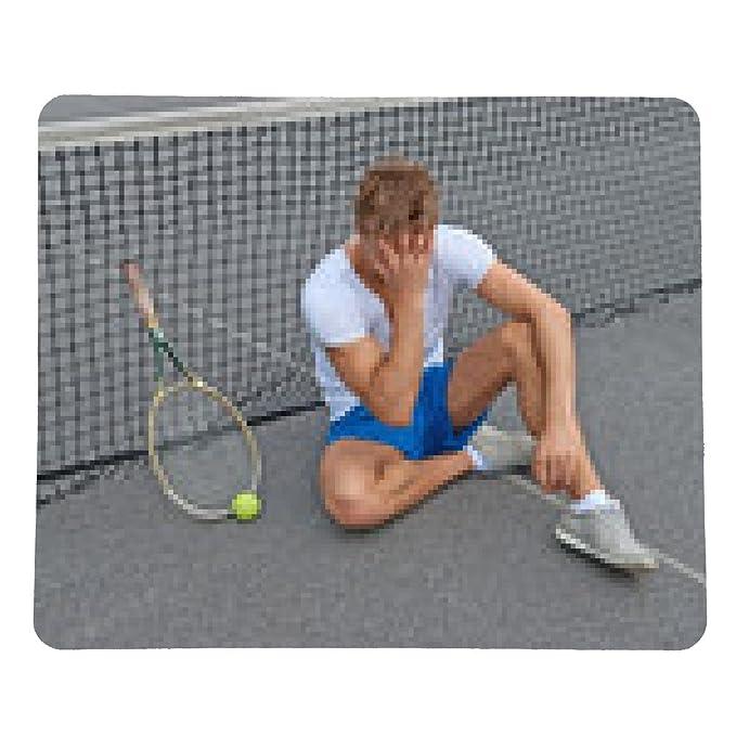 alfombrilla de ratón Perdido juego. tenista decepcionado ...