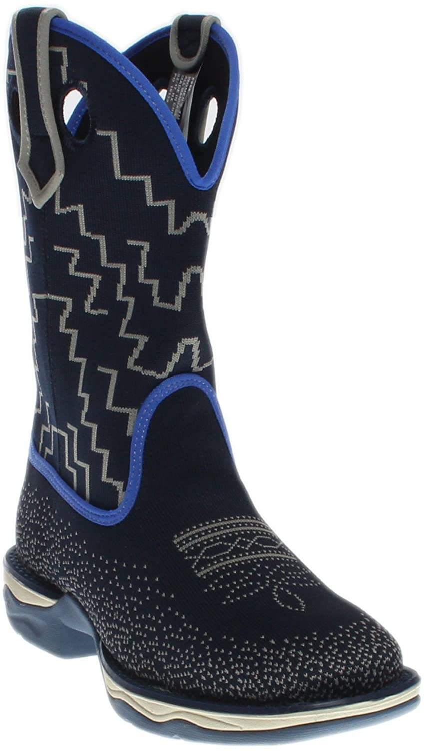 Laredo Women's Frolic Blue Woven Performair Stockman Boot Square Toe - 5958 B01LZ4KIME 8.5 B(M) US|Blue