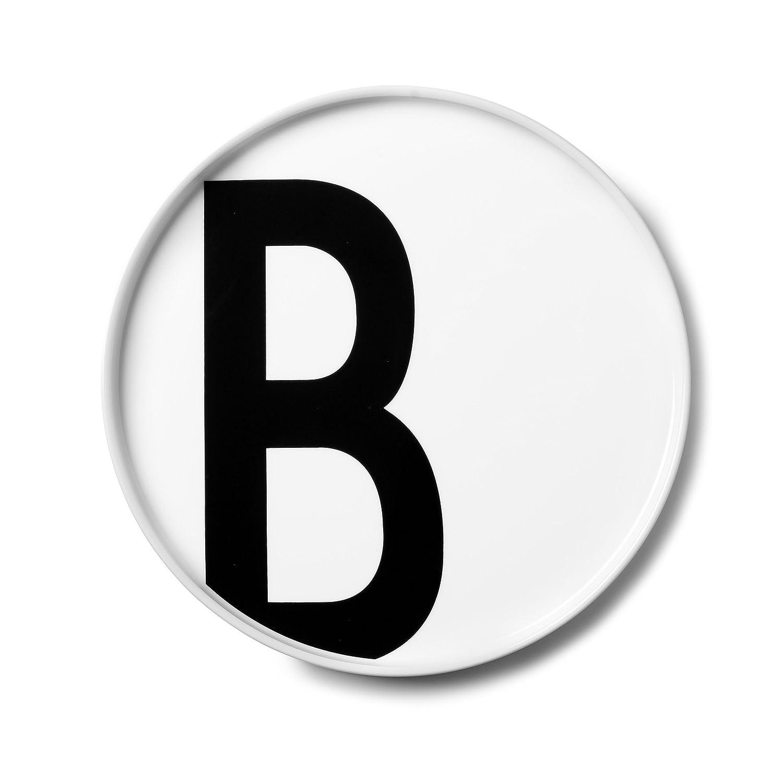 Buchstabe: W Teller Bone China Porzellan /Ø: 20cm Sp/ülmaschinenfest Design Letters Desig: Arne Jacobsen H/öhe: 1,5cm