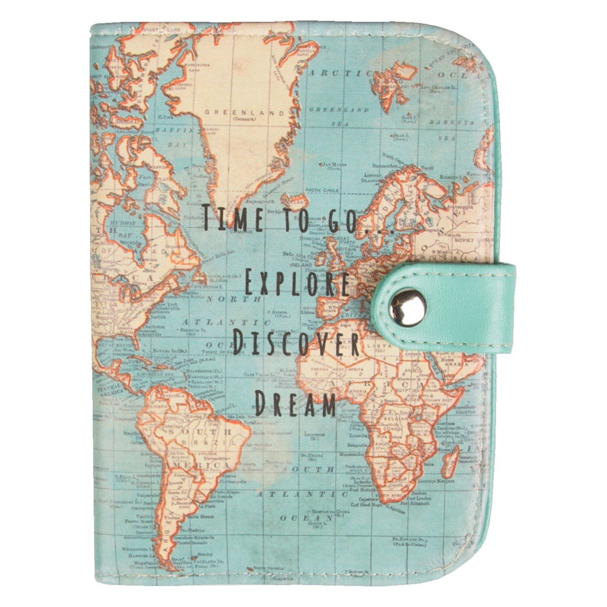 Vintage Map Time To Go Passport Holder Sass & Belle 7211