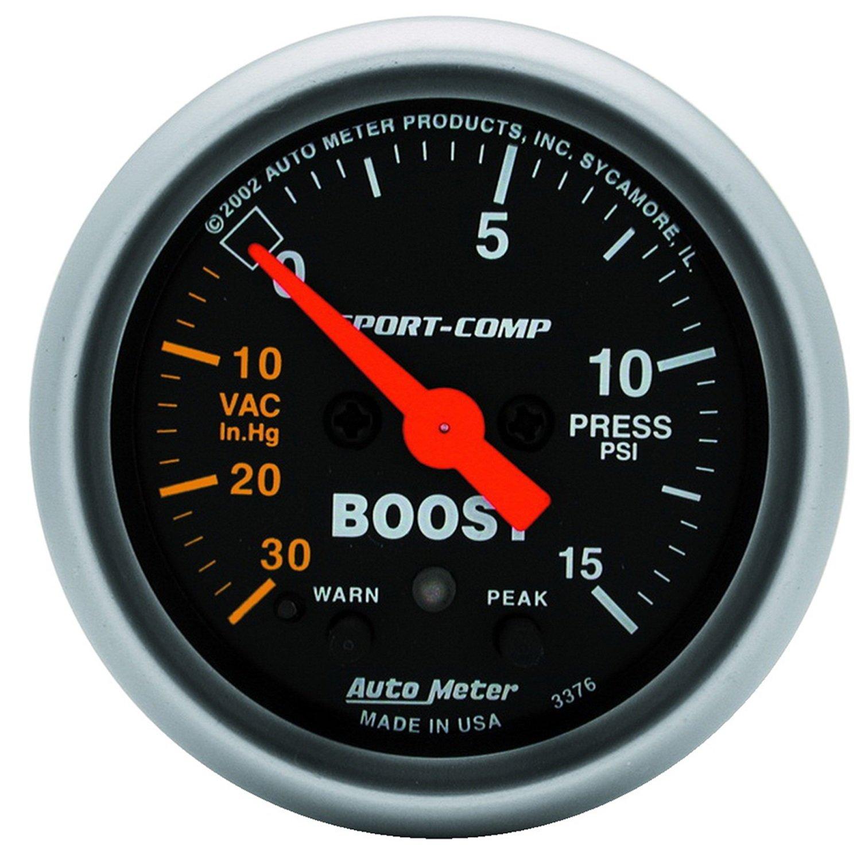 Auto Meter 3376 Sport-Comp Electric Boost/Vacuum Gauge by Auto Meter