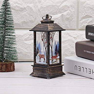LANSKIRT Farolillos Decorativos de Navidad, Resistentes Al Viento, Lámpara de Jardín Mesa de Llamas de Simulación para Camping Simulación Navidad Luz Decorativa: Amazon.es: Ropa y accesorios