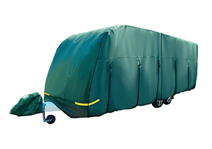 5.6m Maypole 4-Ply Green Premium Breathable Full Caravan Cover 5.0m