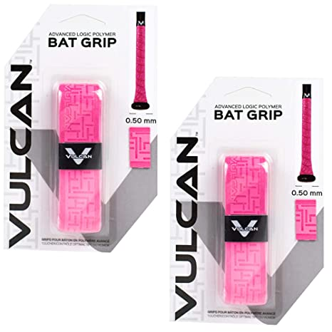 Vulcan Baseball Softball Bat Tape Grip 1.0 MM, 2-Pack, Multiple Colors -...