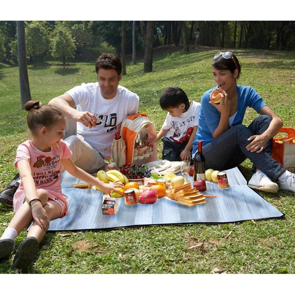 BFQY FH Feuchtigkeitsfeste Unterlage, doppelseitige Aluminiumfolie 300 × 300 300 300 cm Outdoor Camping Picknick Matte wasserdicht und feuchtigkeitsfest B07NMM3Z43 Picknickdecken Verkaufspreis 130187