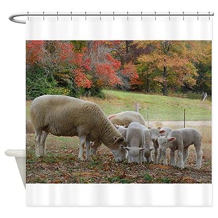 Amazon CafePress Fall Sheep Shower Curtain Decorative Fabric