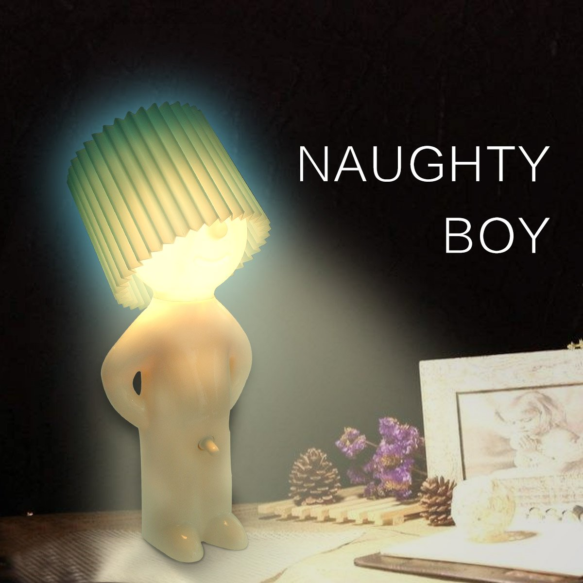 Afaith novelty naughty little boy art table desktop night light afaith novelty naughty little boy art table desktop night light reading lamp blue amazon geotapseo Gallery