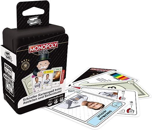 Ass Shuffle Monopoly Deal Juego de Cartas y DFB Shuffle Trivial Pursuit Juego de Cartas Juego de 2: Amazon.es: Juguetes y juegos