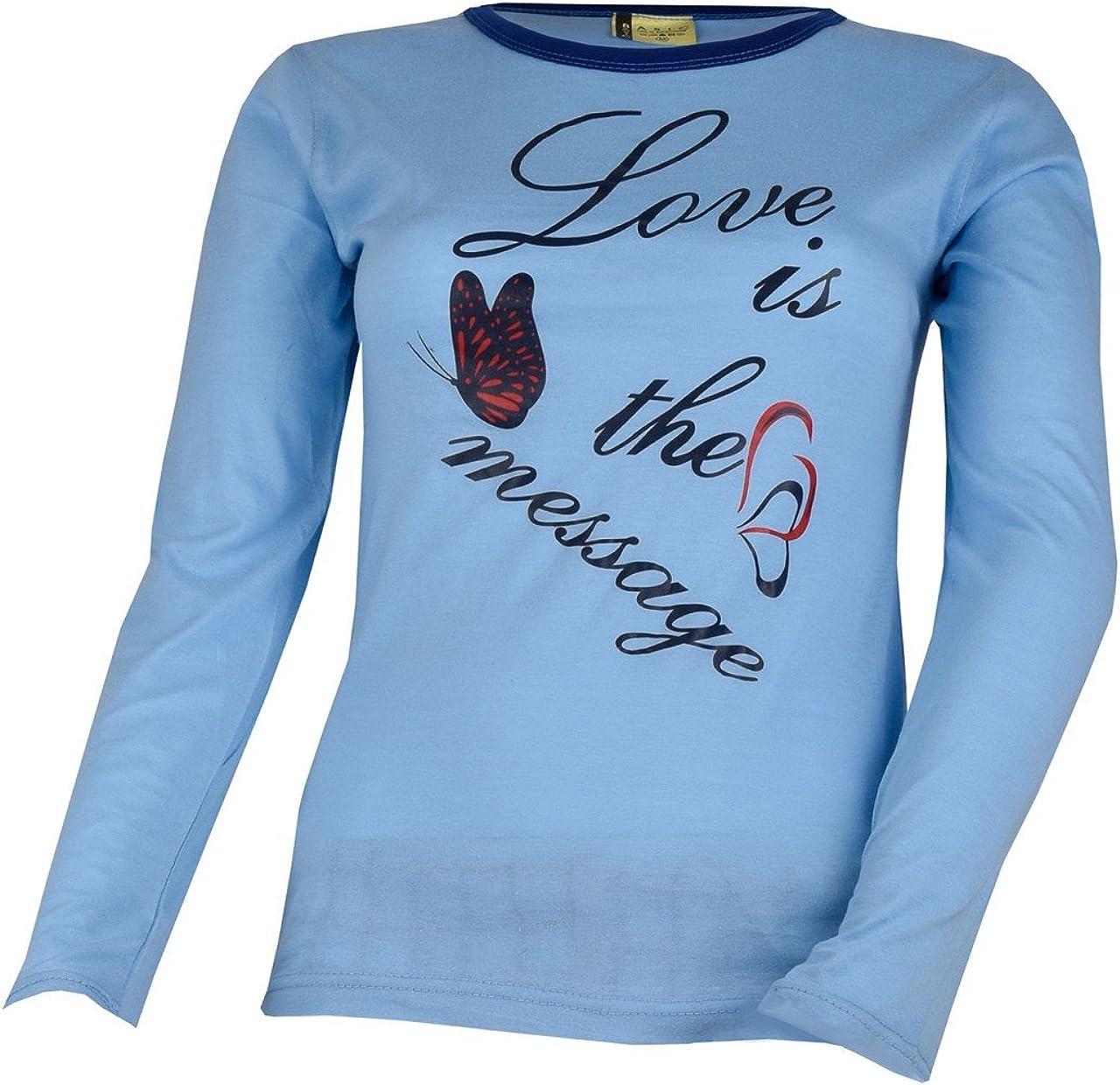 Unbekannt Donna a Maniche Lunghe Pigiama Love Is The Message