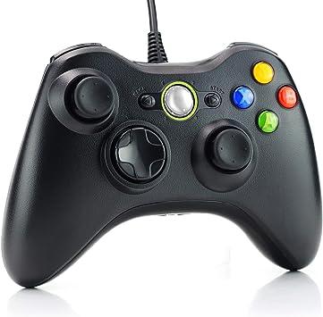 Dhaose Xbox 360 Mando de Gamepad, Controlador Mando USB de Xbox ...