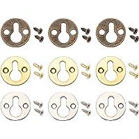 SUPERFINDINGS 60 Sets Metalen Ronde Type Sleutelgat Plank Beugels Hangers Iron Foto Hangers met Schroeven voor Fotolijst…