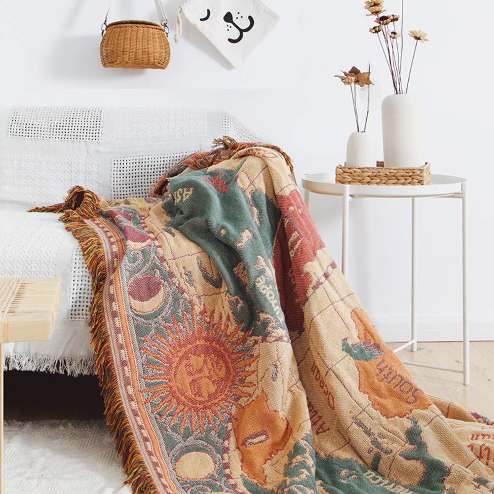 ニット 多機能 レジャー 毛布を投げる, ソファ家具装飾 ソファー カバー シート カーペット 反応染色 ソファ カバー-B 91*108in 91*108in B B07KZQSWJ1