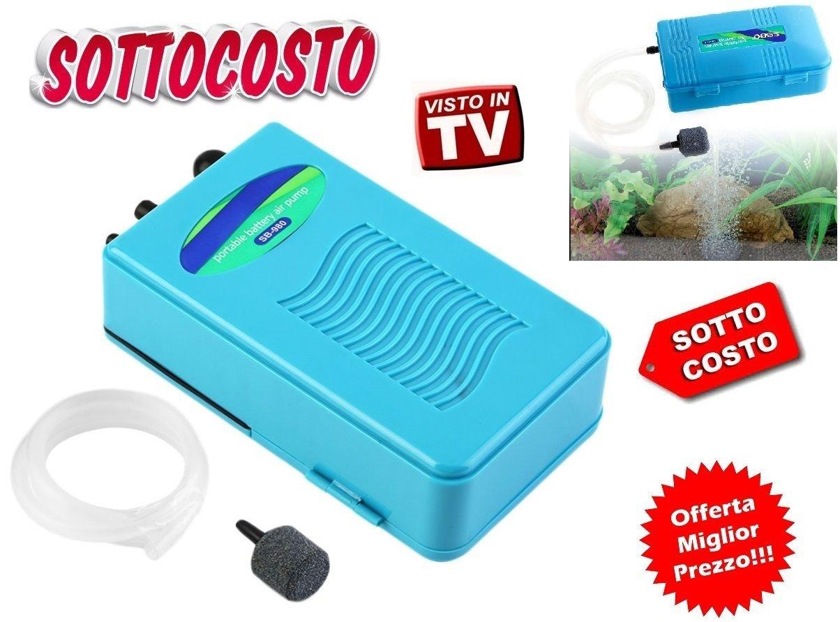 Ventilador Bomba Aire Aireador pecera peces Riciclo oxígeno portátil batería: Amazon.es: Deportes y aire libre