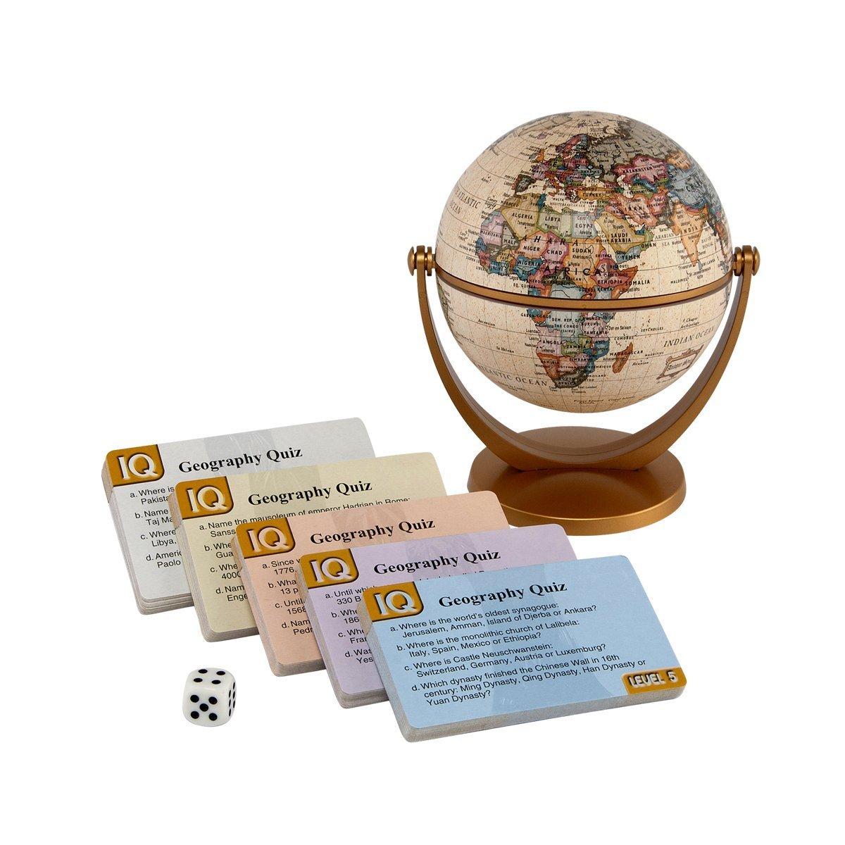 Stellanova IQ Antique Quiz Globe Game