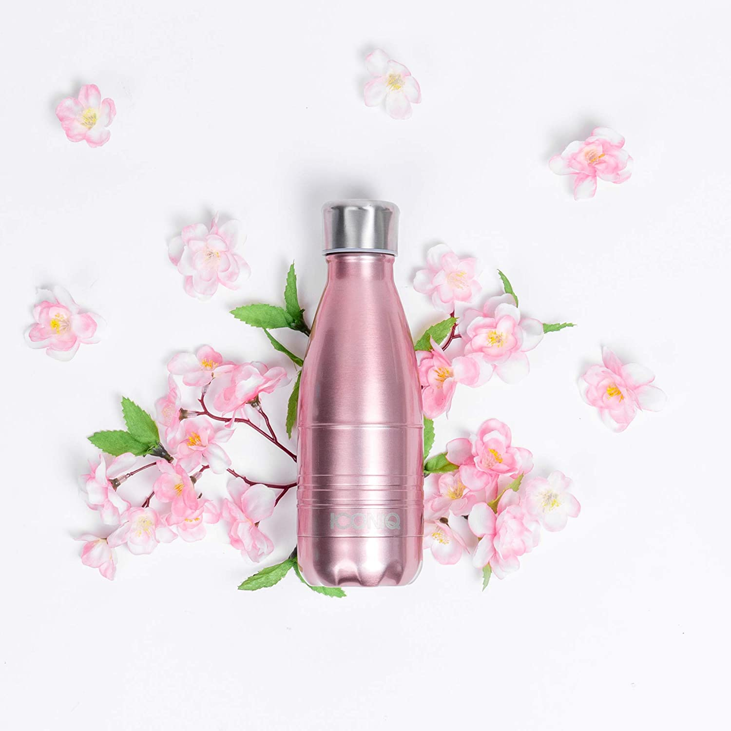 ICONIQ Stainless Steel Vacuum Insulated Water Bottle with Pop Up Straw Cap 12 Ounce