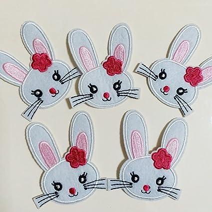 Easter Bunny Conejo De Hierro//Coser Parche Bordado Apliques Insignia