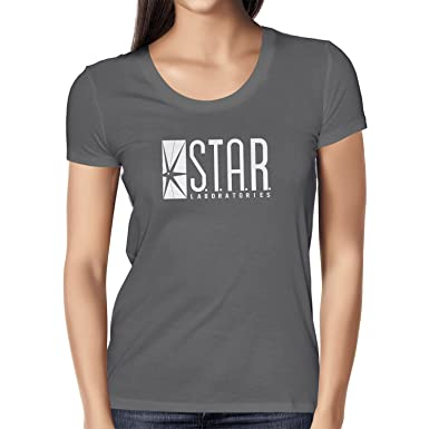 TEXLAB - STAR Laboratories - Damen T-Shirt, Größe S, asphalt