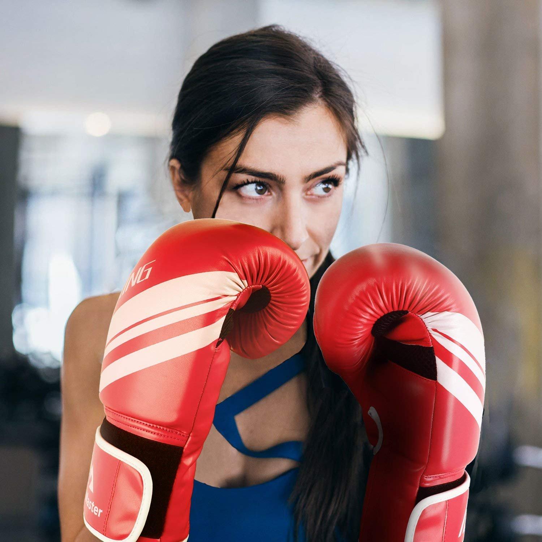 Kampf Muay Thai Kickboxen Boxsack Fausthandschuhe Sport /& Outdoor Spiele für Männer und Frauen 8-16 oz Brace Master Boxhandschuhe Leder infundiertes Gel Trainingshandschuhe für Sparring