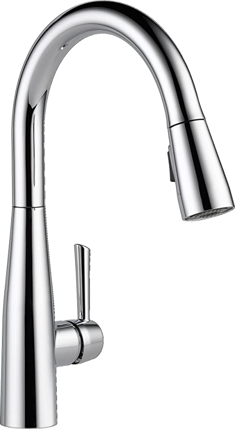 delta faucet essa single handle kitchen sink faucet with pull down rh amazon com  how to disassemble a delta kitchen faucet