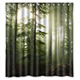 Sunshine Forest Hotselling Promotion Custom Shower Curtain 66(W)X72(H)
