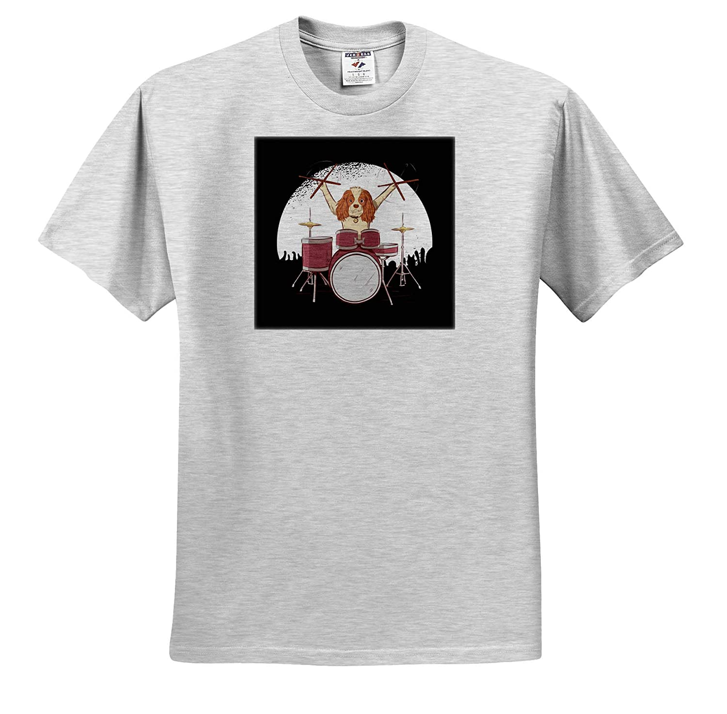 Cavalier King Charles Spaniel Dog Drummer Player T-Shirts 3dRose Sven Herkenrath Dogs