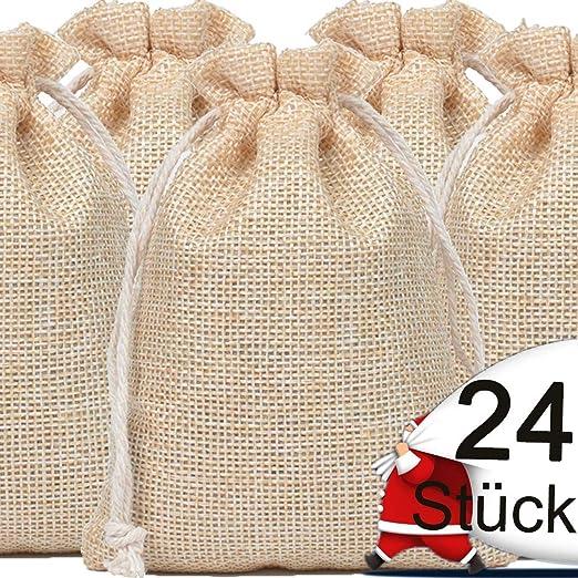 24 pcs Navidad bolsa tela de saco 10 * 14cm bolsitas para ...