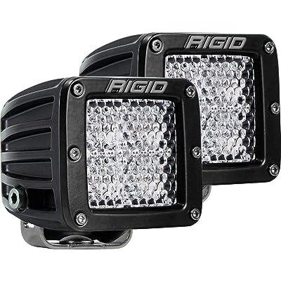 "Rigid Industries 202513 LED Light (D-Series Pro, 3"", Flood Diffused Beam, Pair, Universal), 2 Pack: Automotive"