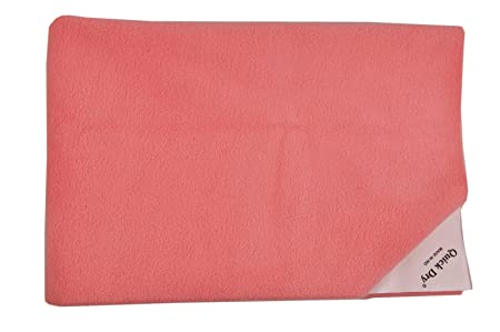 Quick Dry Plain Single Bed (Salamon Rose) Changing Pads & Sets at amazon