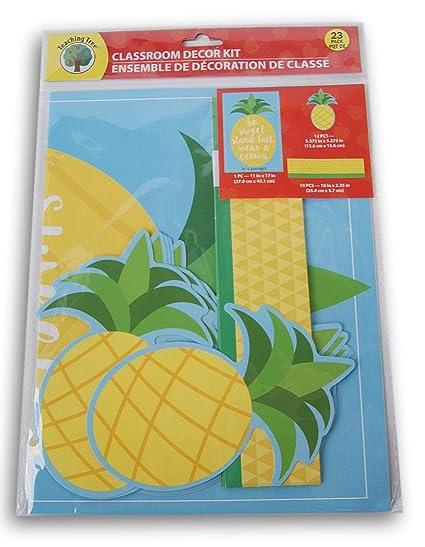 Amazoncom Teaching Tree Classroom Decor Be Sweet Pineapple
