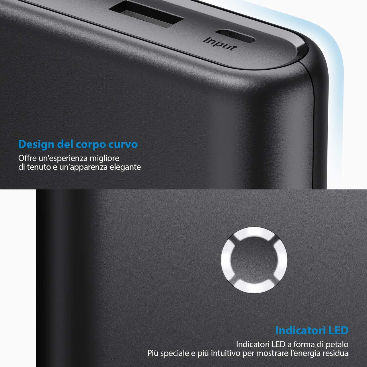 POWERADD Powerbank da 20000mAh Batteria Esterna ad Alta capacità per Huawei, Samsung, Xiaomi, iPhone