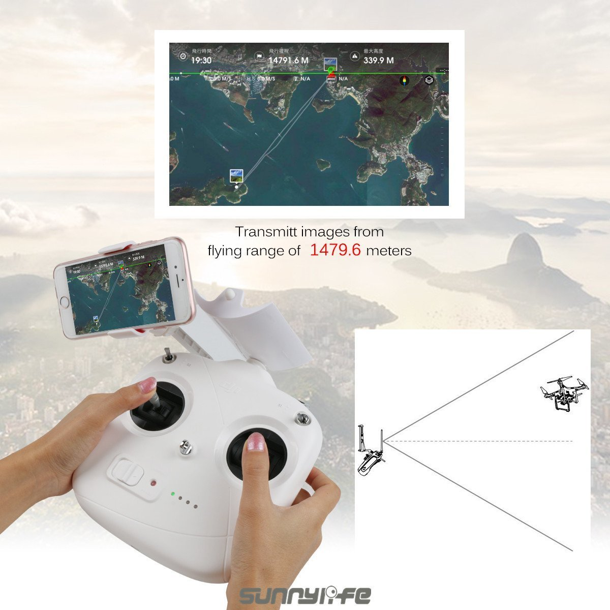 Drone Fans Remote Control Phantom 3 Standard Range Antenna Signal Booster Aksesoris Dji Extender Parabolic For And 2 Camera