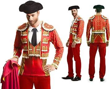 Disfraz Camiseta de Torero Original de Carnaval para Hombre L de ...