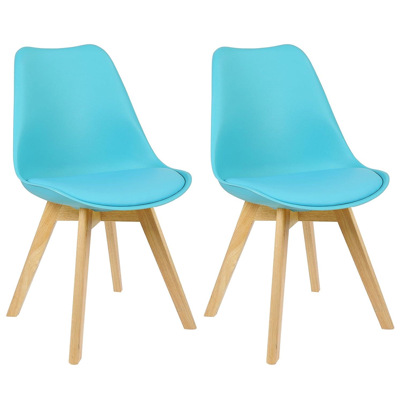 WOLTU BH29bl-2 2 x Esszimmerstühle 2er Set Esszimmerstuhl Design ...