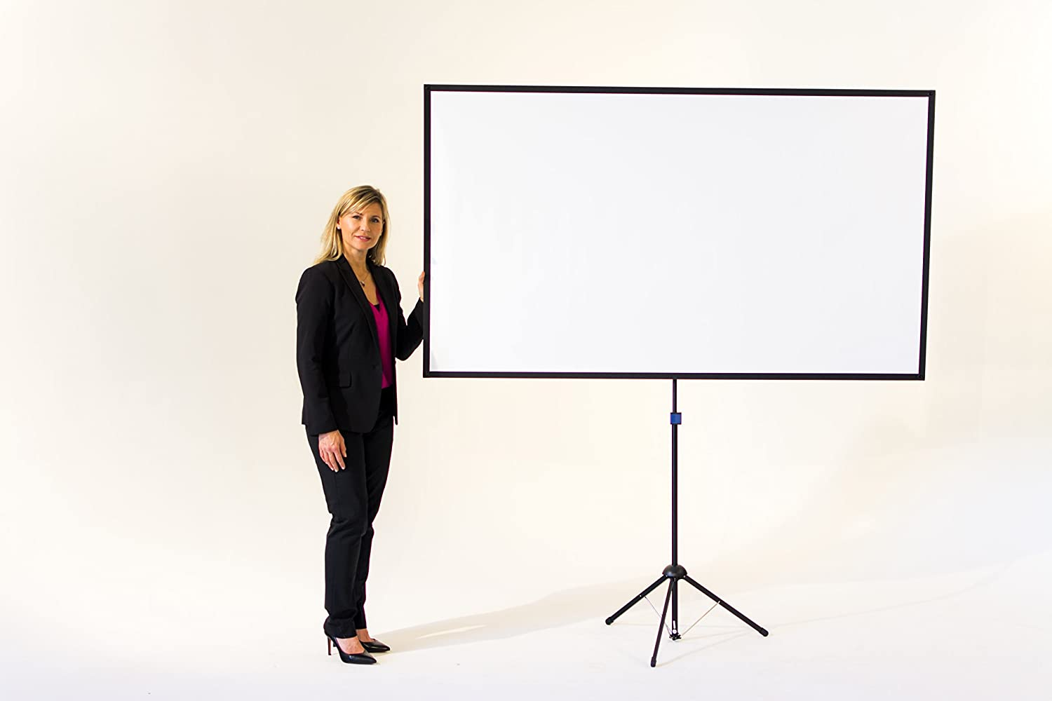 2 Minute Setup 70 inch Includes Carrying Bag 16:9 Format Mounts on Tripod and Wall 9 lbs for Mobile Presentation and Home Entertainment |4K Ultra HD Ready GO-70: 2-in-1 Projector Screen