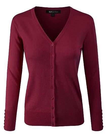 ELF FASHION Womens Lightweight Stretch 3//4 Sleeve Blazer Jacket with Plus Size Size S~3XL