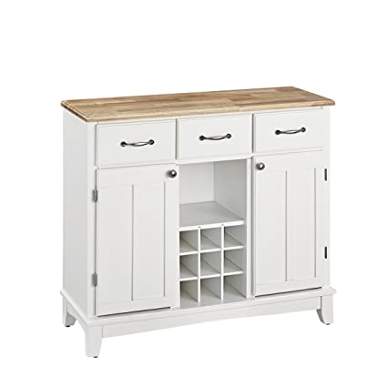 amazon com hutch style buffet white natural buffets sideboards rh amazon com white buffet with hutch and wire rack lauren white buffet with hutch