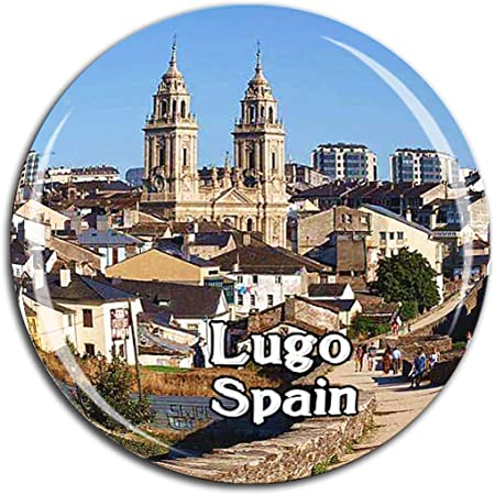 Weekino Catedral de la muralla Romana Lugo España Imán de Nevera ...