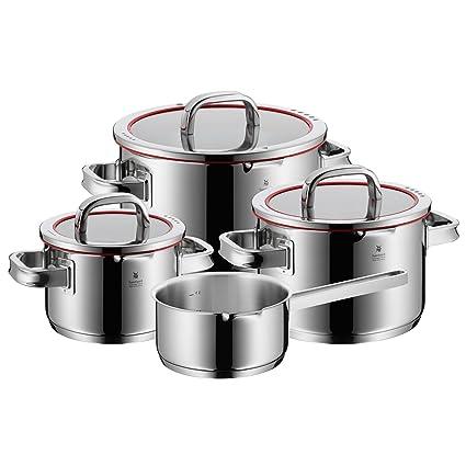 WMF 07.6034.6380 Function 4-Batería de Cocina, 4 Piezas, 3 ollas