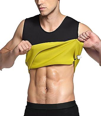 72bef29e8f4f7 Men s Body Shaper Hot Sweat Workout Tank Top Slimming Neoprene Vest for Weight  Loss Tummy Fat