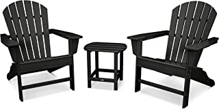 product image for POLYWOOD South Beach 3-Piece Adirondack Chair Set with Side Table