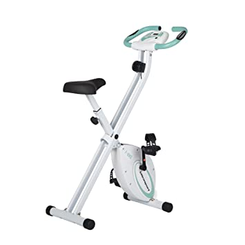 Ultrasport F-Bike Bicicleta estática de fitness, aparato doméstico, plegable con consola y sensores de pulso en manillar, Menta: Amazon.es: Deportes y aire ...