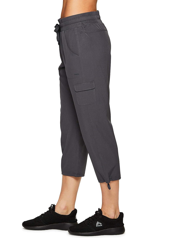 RBX Active Womens Cargo Lightweight Woven Capri Pant