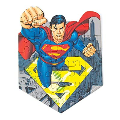 Playhouse DC Comics Superman 24-Piece Die-Cut Shaped Mini Puzzle for Kids: Toys & Games